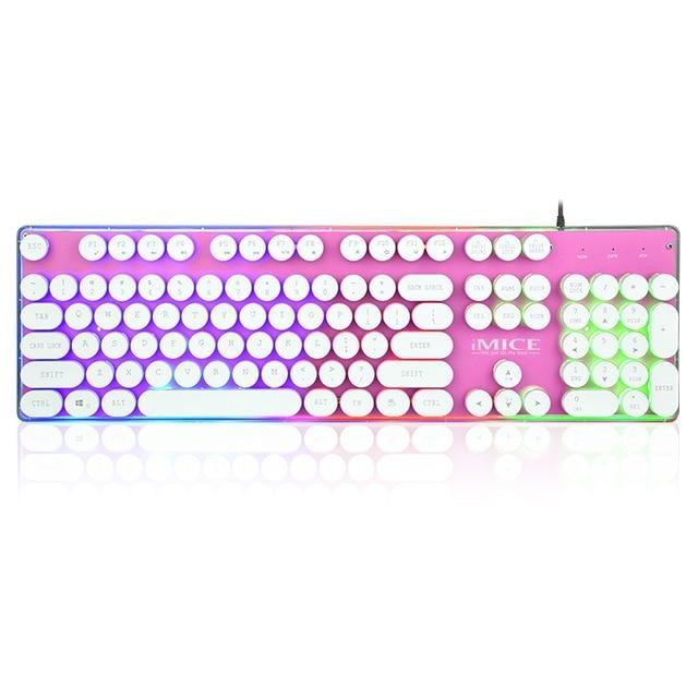 iMICE AK - 700 Retro Punk Backlight Wired USB Gaming Keyboard - Shop For Gamers