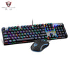 Motospeed CK888 RGB LED Backlight Gaming Mechanical Keyboard + Adjustable DPI Mouse Set - Shop For Gamers
