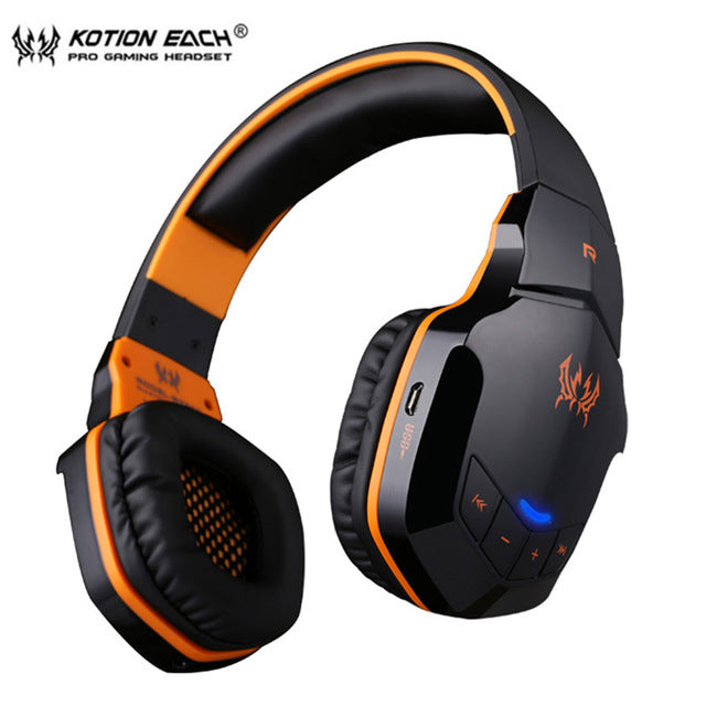KOTION EACH B3505 Wireless Bluetooth 4. 1 Stereo Gaming Headset Volume Control Microphone HiFi Music - Shop For Gamers
