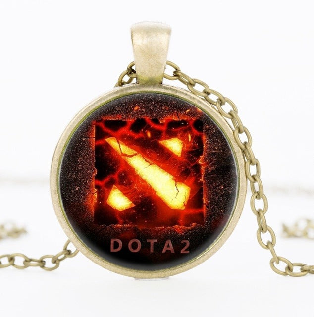 New Dota 2 Glass Necklace - Shop For Gamers
