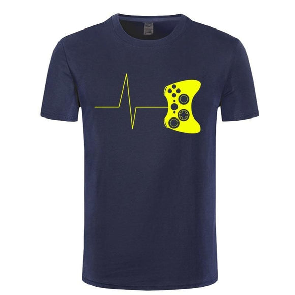 REM man's short sleeve top camisetas Heartbeat of a gamer t-shirts - Shop For Gamers