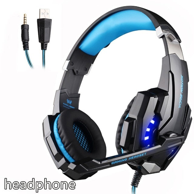 KOTION EACH  Gaming Headset Deep Bass Stereo Earphone with LED light mic - Shop For Gamers