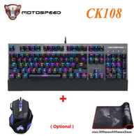 Original Motospeed CK108 Mechanical Keyboard 104 Keys RGB Switch Gaming Wired LED Backlit - Shop For Gamers