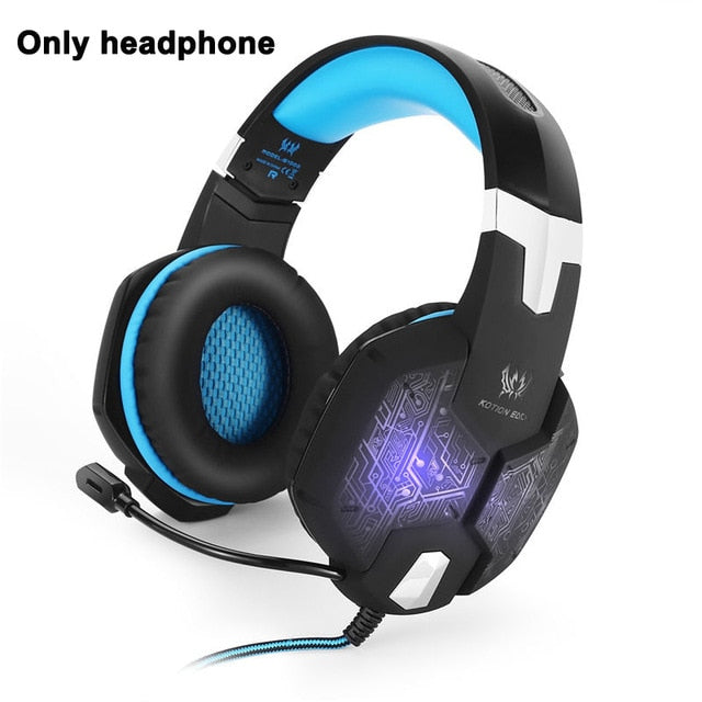 3.5mm Gaming Headset Casque With Microphone Mic Led light - Shop For Gamers