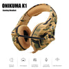 ONIKUMA K1 Camouflage PS4 Headset Bass Earphone Casque with Mic - Shop For Gamers