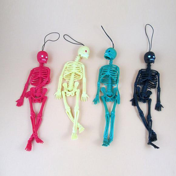 Funny Tricks Toy Replica Luminous Noctilucent Skull Skeleton Keychain - Shop For Gamers