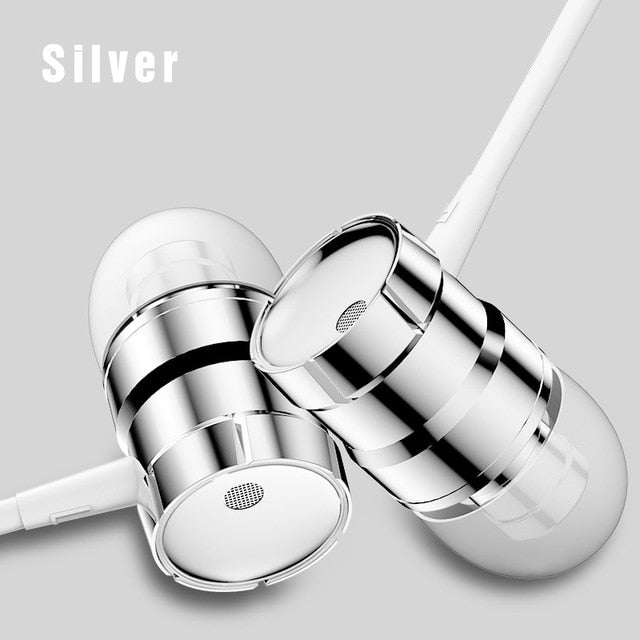 Rock In-ear Stereo Earphone Headset 3.5mm with Mic Earbuds - Shop For Gamers