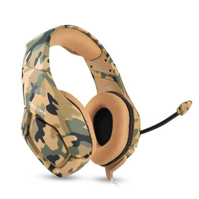 ONIKUMA K1 Casque Camouflage Headset with Mic Stereo Gaming Headphones - Shop For Gamers