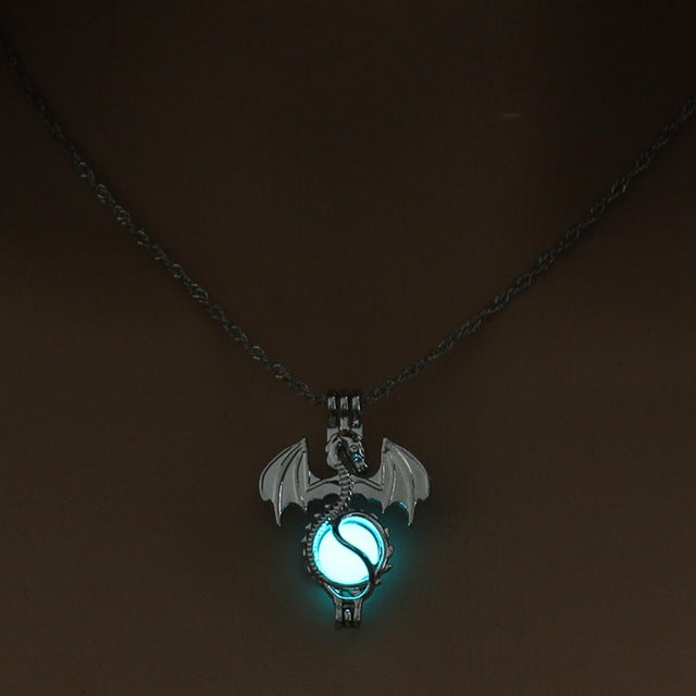Game of Throne Dragon Punk Luminous Pendant Necklace - Shop For Gamers