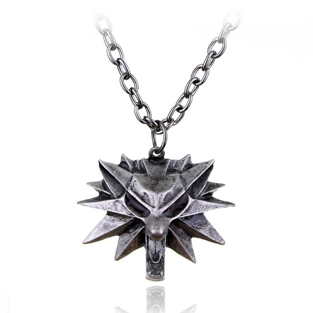 The Witcher 3 Wild Hunt Geralt Wolf Necklace - Shop For Gamers
