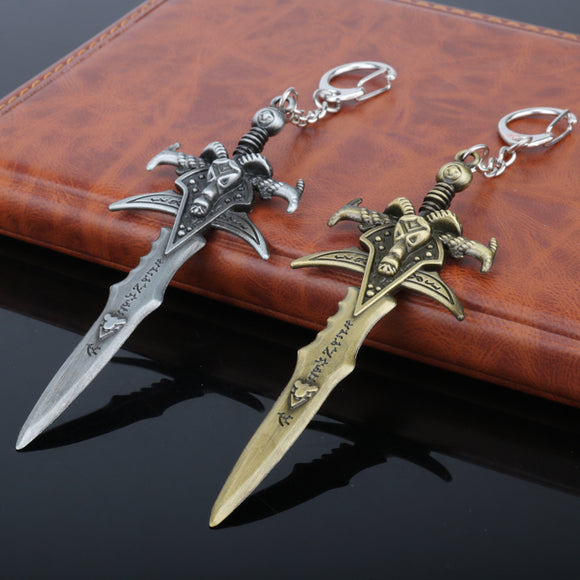 World of WarCrafts Keychain The Lich King Frostmourne Sword