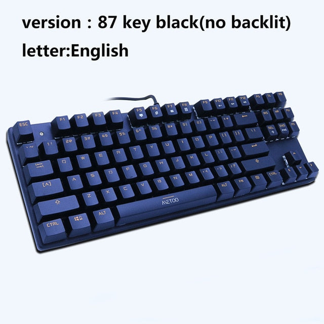 METOO ZERO Mechanical Keyboard Blue/Black/Red Switch Anti-ghosting Backlight Teclado Wired USB - Shop For Gamers