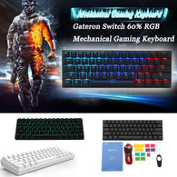 Gateron Switch Obins Anne Pro 2 60% NKRO Bluetooth 4.0 Type-C RGB Mechanical Gaming Keyboard - Shop For Gamers