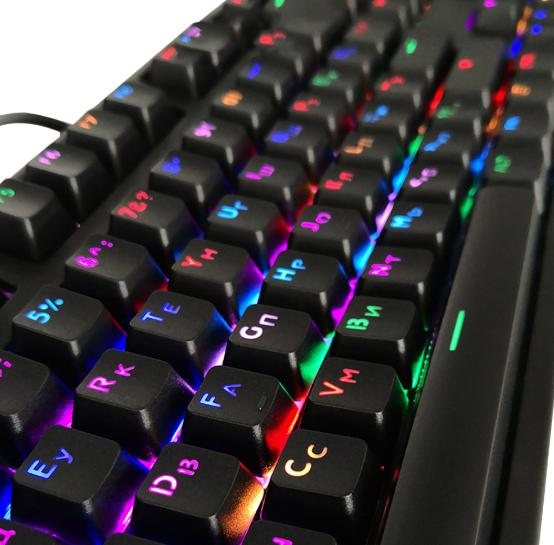 104 Keycaps Russian Translucent Backlight Keycaps For Cherry MX Switch - Shop For Gamers