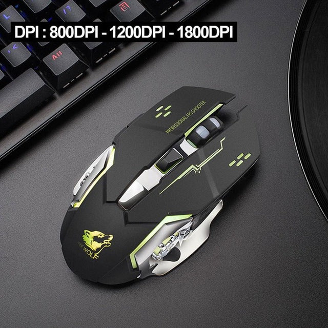 X8 Super Quiet Wireless Gaming Mouse 2400 DPI - Shop For Gamers