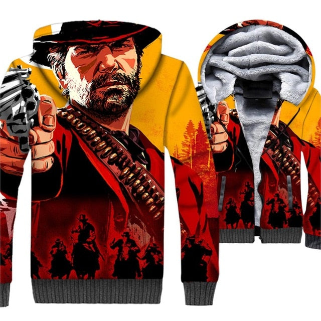 RDR 2 3D Printed Game Hoodies - Shop For Gamers