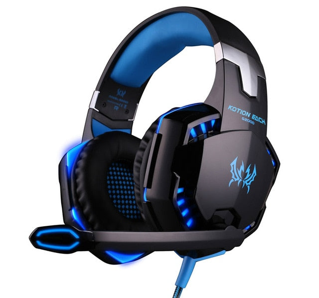 Led 3.5mm Earphone Gaming Headset With Microphone Mic - Shop For Gamers