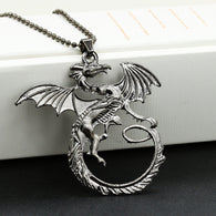 Game of Thrones Vintage Dark Vivid Targaryen Dragon Pendant Necklace - Shop For Gamers