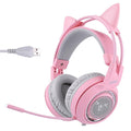 SOMIC G951 Pink Noise Cancelling Lovely Cat Girl PS4 Gaming LED Headset with SVE Vibration