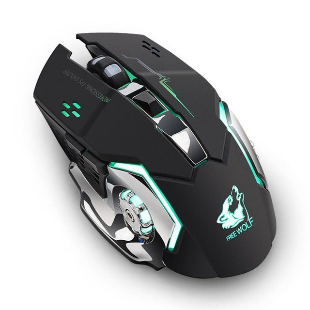 Binmer New 2.4GHz Wireless Mouse  Rechargeable Silent USB Optical Ergonomic - Shop For Gamers