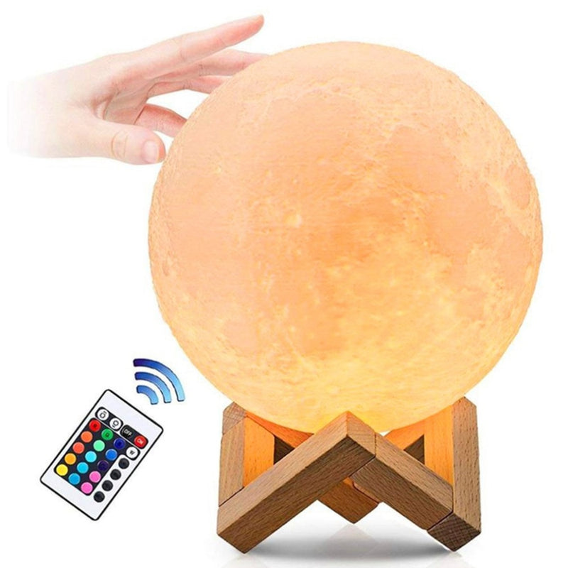 USB lamp Moon LED lamp 250mAh 3D printing technology light - Shop For Gamers