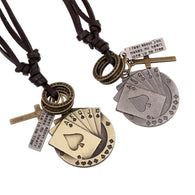 Metal Cards Necklace - Shop For Gamers