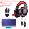 KOTION EACH G2200 USB Vibration 7.1 Surround Sound And G2000 3.5MM Stereo Gaming Headset Light - Shop For Gamers