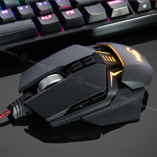 Gaming Mouse Macro Program Mouse Wired USB 4000 DPI Professional 9 Button Ergonomic Optical - Shop For Gamers