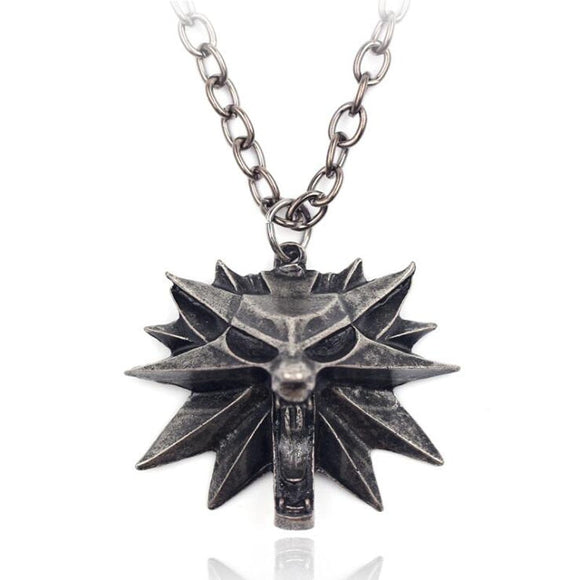 The Witcher 3 Games Wolf Pendants Necklace