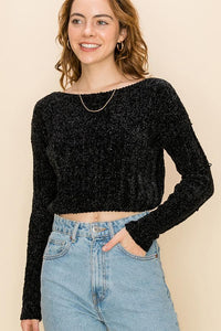 Crop It Sweater, Black