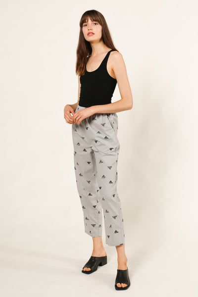 Triangle Print Tapered Pant
