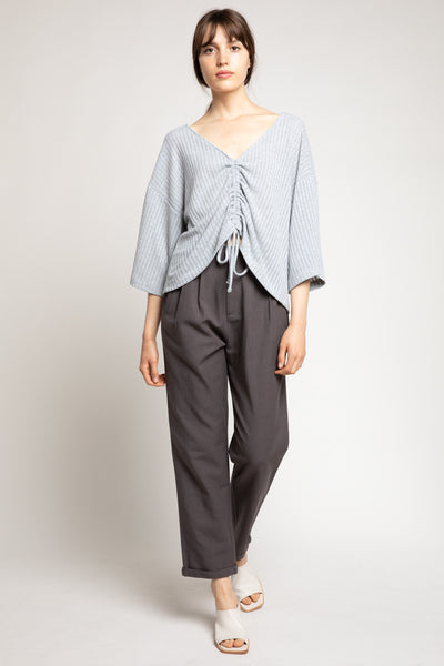 Front Pleat Tapered Pant