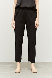 Pocket Twill Black Pants