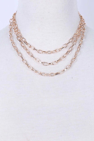 Triple Layer Gold Chain
