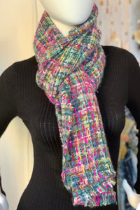 Chunky Boucle Scarf multicolor