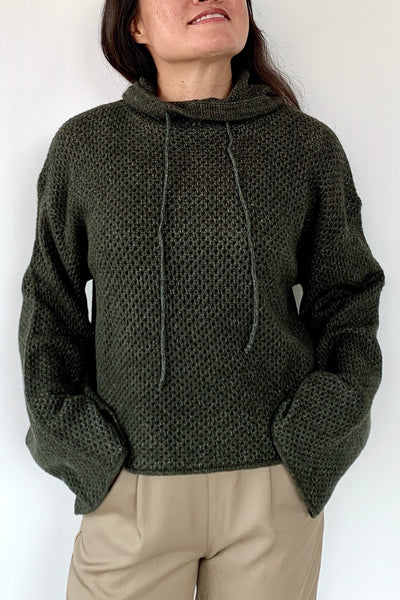 Cozy At Home Knit Hoodie