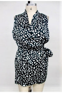 Black & White Animal Print Romper