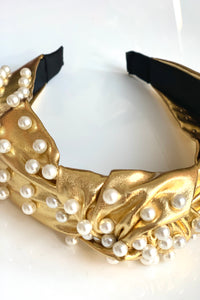 Gold and Pearl Headband