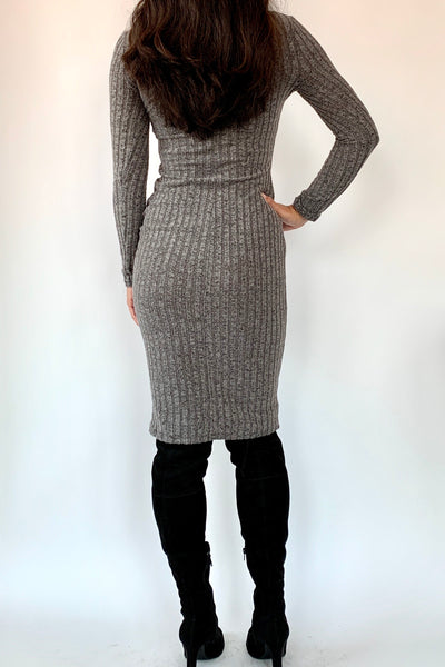 You Got This Ribbed Bodycon Dress