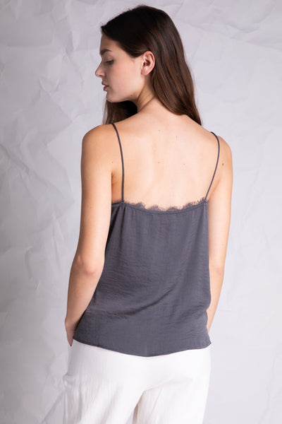 lace detail silky camisole grey back 2