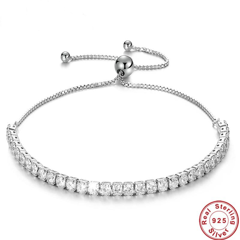 Doracy - Doracy  CZ Cubic Zirconia Adjustable 925 Sterling Silver Ladies Tennis Bracelets And Bangles The Perfect Jewellery Gift For Women - Bracelets, Caps Hats  CZ Cubic Zirconia Adjustable 925 Sterling Silver Ladies Tennis Bracelets And Bangles The Perfect Jewellery Gift For Women - Caps Hats Bracelets Swimming Running Cycling  Fashion