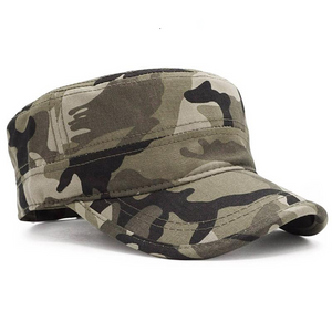 Doracy - Doracy  Army Camouflage Flat Top  Cap Hat for Men  and Women (Unisex) 100% Cotton - Bracelets, Caps Hats  Army Camouflage Flat Top  Cap Hat for Men  and Women (Unisex) 100% Cotton - Caps Hats Caps Hats Swimming Running Cycling  Fashion