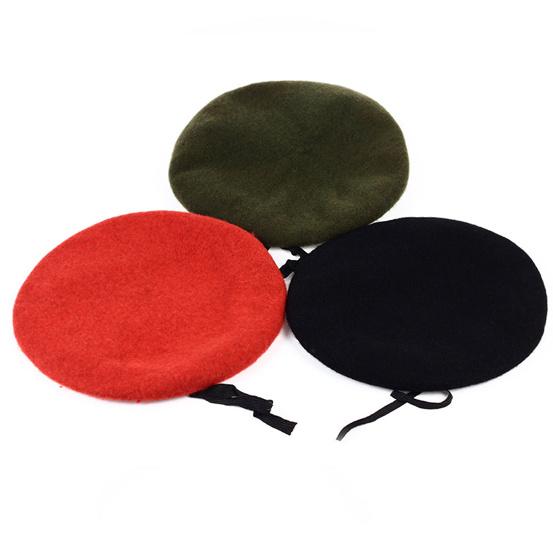Doracy - Doracy  High Quality Unisex Military NeW arrival,Army Soldier Solid Wool Beret For Uniform And Paramilitary Men - Bracelets, Caps Hats  High Quality Unisex Military NeW arrival,Army Soldier Solid Wool Beret For Uniform And Paramilitary Men - Caps Hats Caps Hats Swimming Running Cycling  Fashion