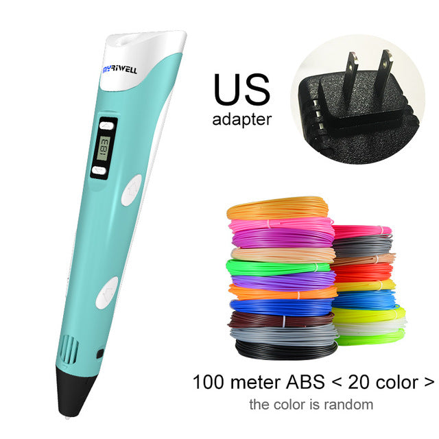 Doracy - Doracy  3D Printing Pen Of 1.75mm ABS/PLA DIY And LED/LCD Screen- 3D Painting Pen+ Filament For Kids  and Adults Design Drawing And Artist - Bracelets, Caps Hats  3D Printing Pen Of 1.75mm ABS/PLA DIY And LED/LCD Screen- 3D Painting Pen+ Filament For Kids  and Adults Design Drawing And Artist - Caps Hats Gadgets Swimming Running Cycling  Fashion