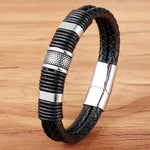 Doracy - Doracy  Genuine Leather  Handmade  Simple and Matured Men's Bracelets With Stainless Steel Magnetic Buckle - Bracelets, Caps Hats  Genuine Leather  Handmade  Simple and Matured Men's Bracelets With Stainless Steel Magnetic Buckle - Caps Hats Bracelets Swimming Running Cycling  Fashion