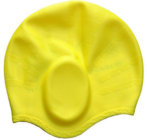 Doracy - Doracy  Women Men Children Kids Silicone Material Swimming Caps with Long Hair and Ear Protrection - Bracelets, Caps Hats  Women Men Children Kids Silicone Material Swimming Caps with Long Hair and Ear Protrection - Caps Hats Swimming Swimming Running Cycling  Fashion