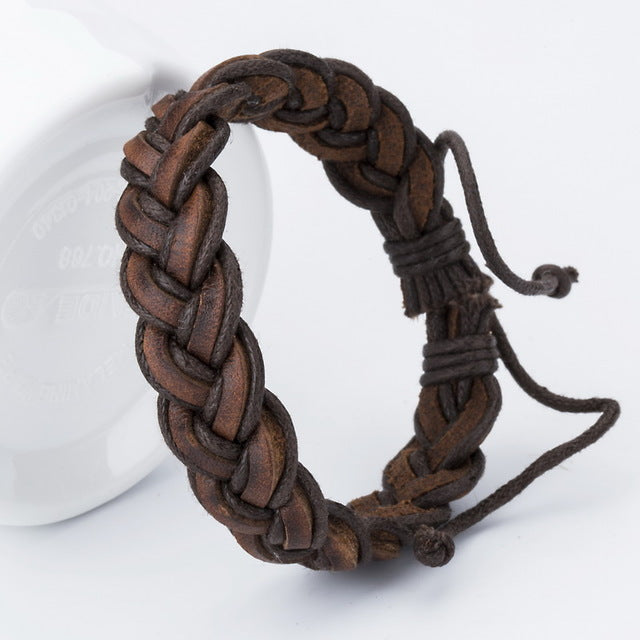 Doracy - Doracy  Latest Design Genuine Leather Handmade Bracelets for Men - Bracelets, Caps Hats  Latest Design Genuine Leather Handmade Bracelets for Men - Caps Hats Bracelets Swimming Running Cycling  Fashion