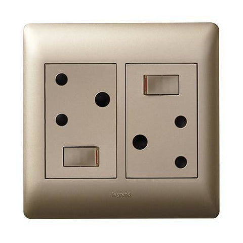 Double Switched Socket - Champagne - PY044CHA