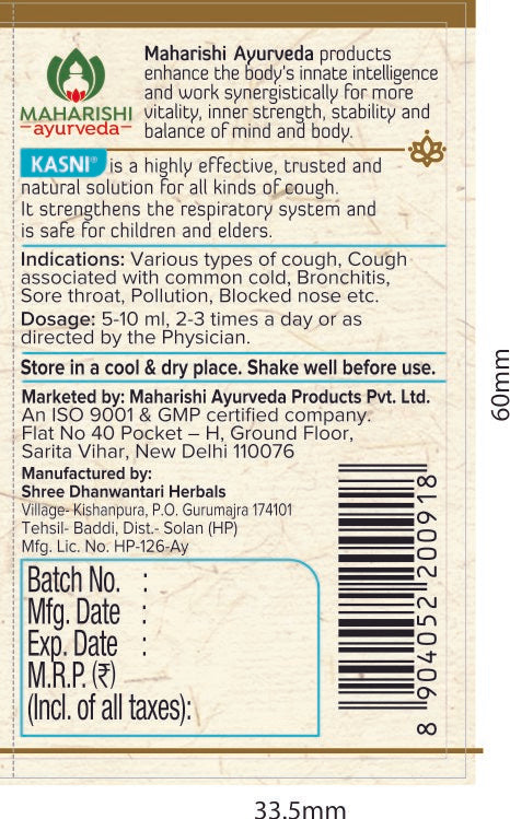 Kasni - ayurvedic medicine for cough and cold | 200ml Bottle - Maharishi Ayurveda