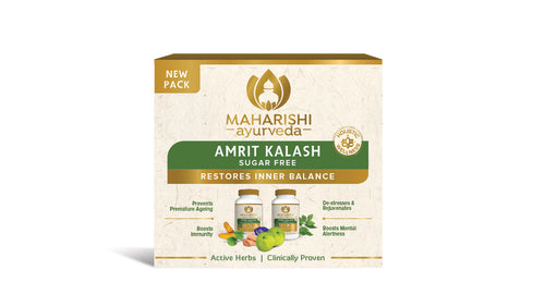 Maharishi Amrit Kalash - Dual Pack of 4 & 5 (Sugar Free Tablets) (60 Tablets and 60 Tablets ) - Maharishi Ayurveda